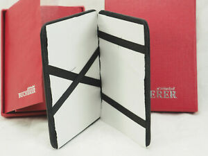 NOS Bucherer of Switzerland Black Leather Card money Hinged Holder with red box