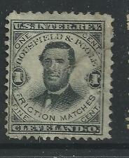 RO 35a--BOUSFIELD AND POOLE 1  CENT PRIVATE DIE MATCH STAMP-47