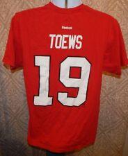 REEBOK CHICAGO BLACKHAWKS TOEWS #19 SS Jersey Tee / T-Shirt Men's Large