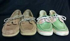 Lot of 2 Pairs Sperry Top Sider Shoes Women's Size 8 ~ Free Priority Shipping!