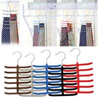 Non-slip Closet Necktie Tie Belt Cloth Scarf Scarve Organizer Rack Holder Hanger