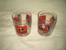 """ 2 VERRES INDESTRUCTIBLES INCREDIBLES DISNEY PIXAR 8.4 CM / D = 7 CM"