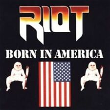 Riot (metal Group) Born in America LP Vinyl 10 Track 180 Gram Reissue With Pic
