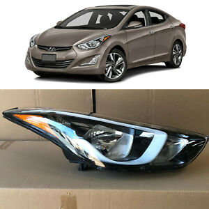 Headlight for 2014 2015 2016 Hyundai Elantra Passenger 92102-3Y500 w/ Bulb