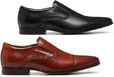 MENS JULIUS MARLOW JOINED WORK LEATHER BLACK / TAN MEN'S SLIP ON WORK SHOES