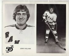 JERRY HOLLAND 1975-76 NEW YORK NY RANGERS ORIGINAL TEAM ISSUE 8x10 NHL PHOTO WHA
