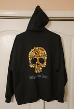 Tri Sigma Sigma Sigma Black Faithful Until Death Skull Hoodie 2X Flowers
