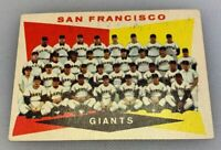 1960 Topps # 151 San Francisco Giants SF Team Checklist Baseball Card