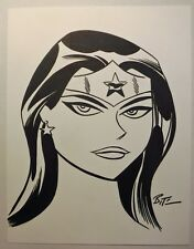 Wonder Woman Warner Bros Bruce Timm drawing Pencil & Ink NEW 11 x 8.5 stock