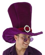 Alice In Wonderland MaD HaTTeR Madhatter Adult Giant Top HAT Purple Costume NEW