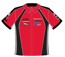 Size 4XL Honda Racing Cotton Pit Crew Shirt  Red Embroidered JH Design New XXXXL