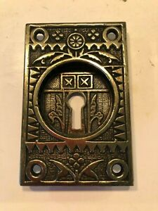 RARE Sargent Brass Lock Plate #482A; Excellent Condition & Ready to Install