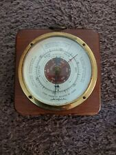 New listing Vintage Fee & Stemwedel Chicago Airguide Weather Barometer Wood & Brass