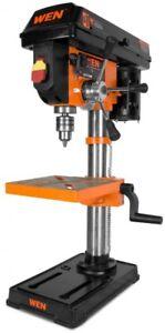 WEN Bench Drill Press 10 in. 120-Volt Cross Hair Laser Guide Cast Iron Base