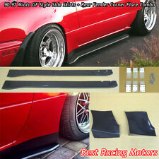 GF Style Side Skirts + Rear Fender Corner Flare Combo Fit 90-97 Mazda Miata