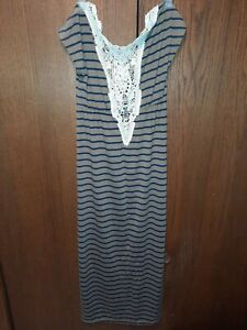 C11 Route 66 Womans XS Stripped Dress With Slip
