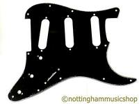 Black 3 ply stratocaster style SSS guitar pickguard BWB pick guard scratch plate