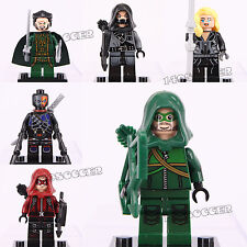 6pcs Super Hero Mini Figure Dc Comics Green Arrow Dark Archer Meryin Fits Lego