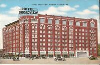 Wichita, KANSAS - Hotel Broadview - ARCHITECTURE - old cars