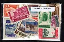Maroc Espagnol - Spanish Morocco 25 timbres différents