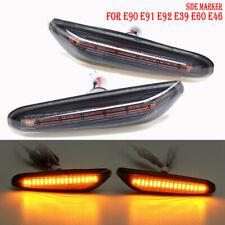 Smoke Lens Yellow LED Side Marker Light For BMW E82 E83 E84 E88 E90 E91 E92 E60