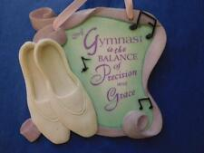 ENESCO All About Dance GYMNAST is the BALANCE of PRECISION and GRACE PLAQUE 2002