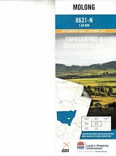 Molong 8631-N 1:50,000  NSW LPI topographic map new, free priority post Aust
