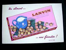 Ancien Buvard Chocolat Lanvin au Lait Noisettes
