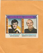 1974-75  O PEE CHEE PHIL ESPOSITO and GOLDSWORTHY LL NO:1  Ex cond