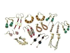 Lot Dangle Beads Stone & Enamel Handmade Artisan Craft Fashion Jewelry Earrings