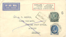2402 1929 First Flight French Air Union's acceptance British mail LONDON AJACCIO