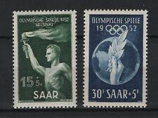 1952 Saarland Mi. 314-315 ** postfrisch Olympische Spiele 1952 Helsinki