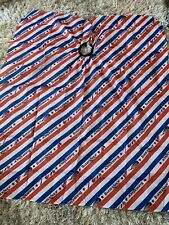 Barber Cape Red White Blue Stripes X4