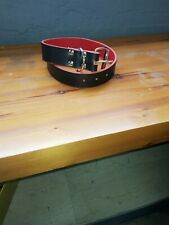 Leather Dog Collar Dual colour handmade in Greece