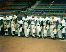 BROOKLYN DODGERS JACKIE ROBINSON TEAM PHOTO COLOR THE DUKE REESE AND OTHERS