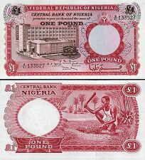 NIGERIA 1 POUND 1967 UNC P-8