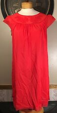 Vintage size 34 Cap Sleeve Baby Doll Floral Lingerie Short Nightgown Nylon Red