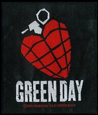 GREEN DAY HEART GRANADE Patch / SEW-ON PATCH 602782#