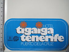 Aufkleber Sticker Hotel Tigaiga Tenerife - Puerto de la Cruz - Spanien (3035)