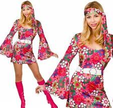 Retro Gogo Girl UK 10 12 Ladies Fancy Dress Adults Hippie 1960s Dancer Costume
