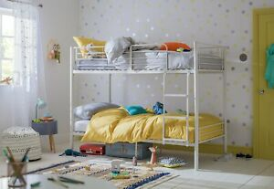 Home Mason Metal Bunk Bed Frame - White