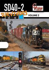 SD40-2 Survivors DVD Volume 2 DVD NEW EMD Diesel Locomotives BNSF CP UP CN NS