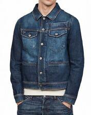 G-Star Raw Mens Jacket Blue Size XS Jean Denim Button-Front Pocket $250 #142