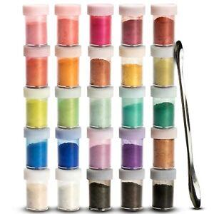 Metallic Pigment | Farbpigmente | Pigmentpulver für Epoxidharz | 25 Farben je 5g