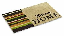 """Vinyl Backed Welcome Home Printed Coco Doormat 0.5"""" Thick - 18 by 30-Inch"""