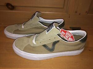 Vans Men's Classic Sport VN0A4BU64PF Brown Black White Skate Shoes Size 9
