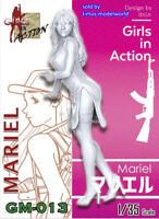 ZLPLA Genuine 1/35 Resin Figure Mariel Girls in Action Assembly Model Kit GM-013
