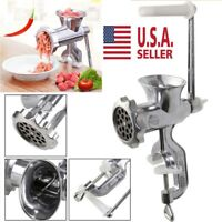 Table Hand Crank Manual Meat Grinder Mincer Stuffer Sausage Filler Maker Machine