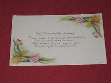 1919 My Friend's Birthday Postcard #118C Posted VG