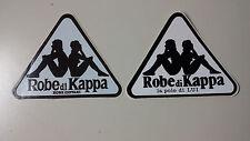 Adesivo Sticker ROBE DI KAPPA  set 2 pezzi di cm 11,5 x 9 circa
